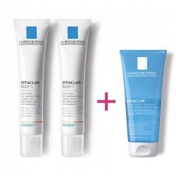 La Roche Posay Duo Pack Effaclar Duo+ Unifiant Medium 40ml + Cadeau Gel Moussant 50 ml