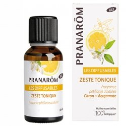 Pranarom Les Diffusables Zeste Tonique Bio Citron et Bergamote 30ml