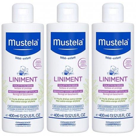 Mustela Bébé Liniment Pack 3x400ml