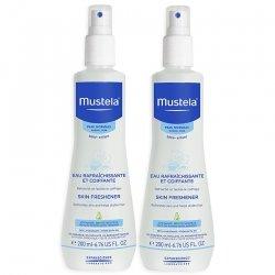 Mustela Duopack Bébé Eau Rafraîchissante et Coiffante Spray 200 mlx2