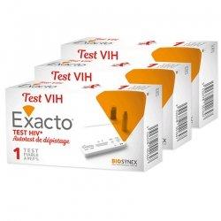 Exacto Triopack Test VIH Autotest de Dépistage x3