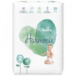 Pampers Harmonie T2 4-8kg Jumbo 56 unités