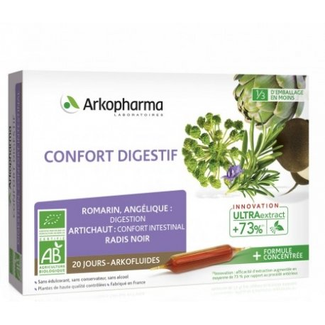 Arkofluide Confort Digestif Bio 20 ampoules