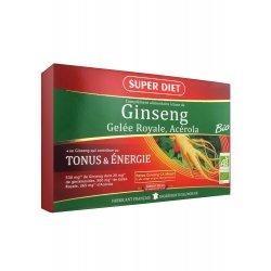 Superdiet Tonus & Booster Ginseng Gelée Royale Acérola 30 Ampoules
