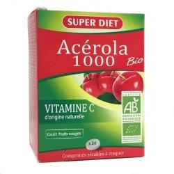 Superdiet Acérola 1000 Bio 24 Comprimés