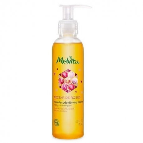Melvita Nectar De Roses Huile Lactée Démaquillante 145ml