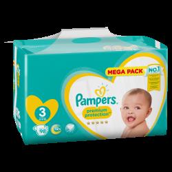Pampers New Baby T3 6-10kg Megapack 98 unités
