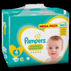 Pampers New Baby T4 9-14kg Megapack 78 unités