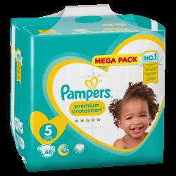 Pampers New Baby T5 11-16kg Megapack 68 unités