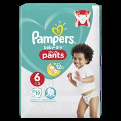 Pampers Baby Dry Pants T6 16kg+ 19 unités