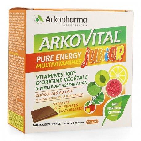 Arkopharma Arkovital Pure Energy Junior Chocolat 15 carrés
