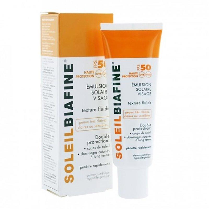 prix limité luxuriant dans la conception recherche de liquidation Soleil Biafine SPF50 émulsion solaire visage crème tube 50ml