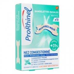ProRhinel Bandelettes Nasales Nez Congestionné x10