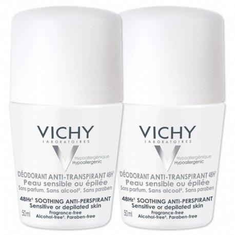 Vichy Deo peau t-sensible-épilée (sans alcool) bille 50ml
