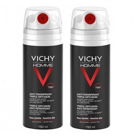 Vichy Homme Duo Pack Anti-Transpirant Triple Diffusion 72H 2x150ml