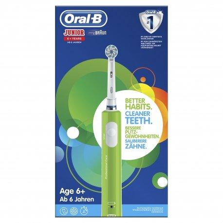 oral b brosse dents vitality junior 6 green pour enfants. Black Bedroom Furniture Sets. Home Design Ideas