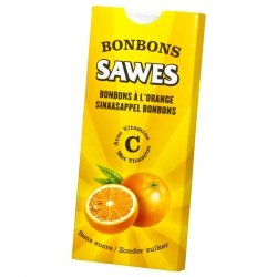 Sawes Bonbon Orange Sans sucre 10 Pièces