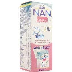 NAN Sensitive 0-12 mois 4x26,2g