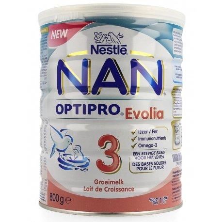 NAN Optipro 3 Evolia Lait de Croissance 800g