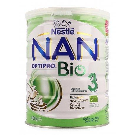 NAN Optipro 3 Bio Lait de Croissance 800g