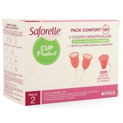 Saforelle Cup Protect Coupes Menstruelles Taille 2 x 2