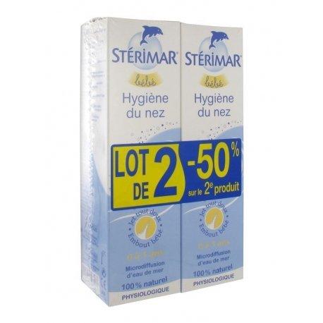 Stérimar Bébé Hygiène du nez Lot de 2x100 ml