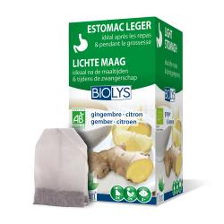 Biolys gingembre - citron    tea-bags 20