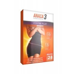 Anaca 3 Cosmétotextile Shorty Ventre Plat L/XL