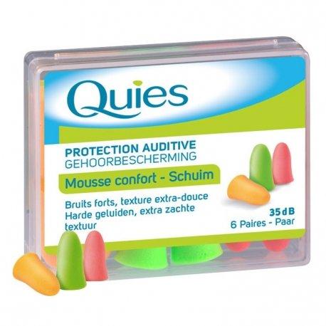 Quies Protection Auditive Mousse Confort 6 Paires