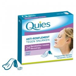 Quies Anti-Ronflement 24 Bandelettes Nasales (Grand)