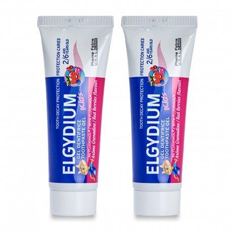 Elgydium Kids Gel Dentifrice Protection Caries Grenadine 2/6 ans 50ml