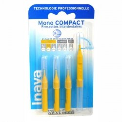 Inava Mono Compact Brossettes Interdentaires Rouge Larges 1,2 mm