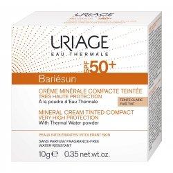 Uriage Bariésun Crème Solaire Minérale Visage Teintée Compacte Spf 50+ Clair 10g