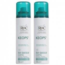 Roc Keops Duo Pack Déodorant Spray Fraicheur 24H 2x100ml