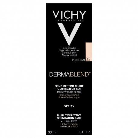 Vichy Dermablend Fond de Teint Fluide Correcteur 16H Porcelain 05 SPF35 30ml