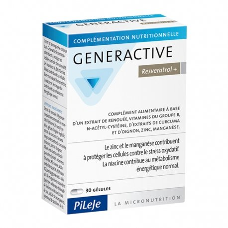 Pileje Generactive Resveratrol+ 30 gélules