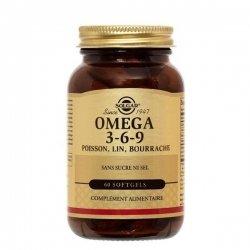 Solgar Omega 3-6-9 Poisson Lin Bourrache 60 Capsules