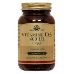 Solgar Vitamine D3 400 UI 100 Capsules