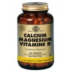 Solgar Calcium Magnésium Vitamine D 150 comprimés