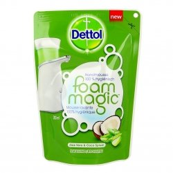 Dettol Foam Magic Mousse Lavante 100% Hygiénique Aloe Vera & Coco Splash 200ml