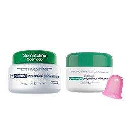 Somatoline Cosmetic Amincissant intensif 7 nuits 400ml + gommage préparateur minceur 300g + Ventouse Cellulite en silicone
