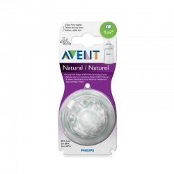 Philips Avent Natural 2 Tétines Débit Lent 1m+