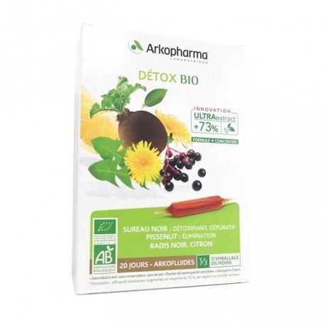 Arkopharma Détox Bio 20 ampoules de 10ml