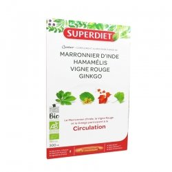 Superdiet Bio Circulation 20 Ampoules de 15ml