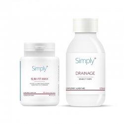 SIMPLY+ Slim Fit MAX Minceur 90 gélules + Drainage 125 ml - Cure de 25 jours