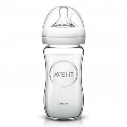 Philips Avent Natural Biberon Naturel Verre 1m+ 240ml