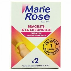 Marie Rose Bracelets à la Citronnelle x2