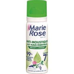 Marie Rose Aérosol Anti-Moustiques aux Huiles Essentielles 7h Répulsif et Apaisant 100ml