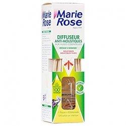Marie Rose Diffuseur Anti-Moustiques aux Huiles Essentielles 85ml + 8 bâtonnets