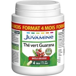 Juvamine Thé Vert Guarana Format 4 mois 120 gélules